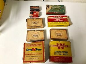 Antique Vintage Winchester And Peter's Shotgun and Long Rifle Empty Boxes