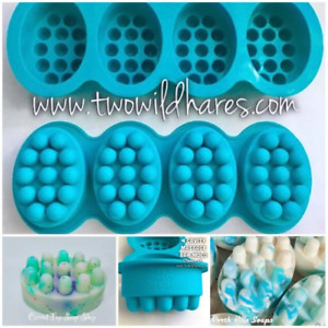 FOUR Massage Bar Silicone Tray Molds (16 cavities) Soap Mold Two Wild Hares