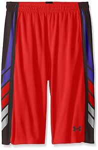 Under Armour Boys' Select Basketball Shorts Risk RedBlack Youth X-Large