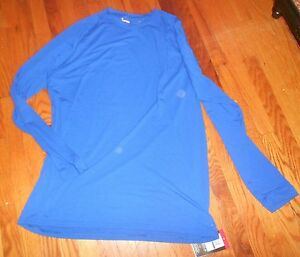 Nwt Mens Under Armour Royal Blue LS Heat Gear Loose Fit Shirt XL Tall