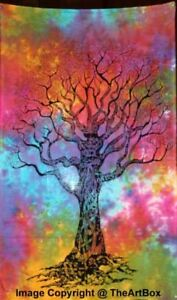 Tree Of Life indian Cotton Poster Mandala Tapestry Ethnic Wall Hanging Yoga Mat