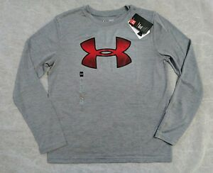NWT UNDER ARMOUR Boys Shirt SIZE YL YOUTH Large Long Sleeve Dry Fit