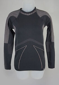 Womens Nike Fit Dry Black & Tweed Athletic Top Shirt Size SM
