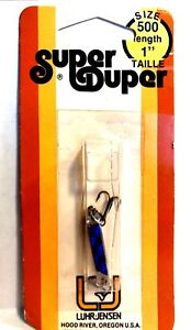 Luhr-Jensen Vintage Super Duper Chrome  Blue Fishing Lure ( #1303-500-153 )