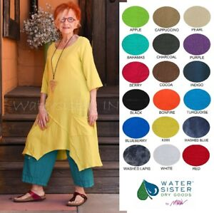 WATERSISTER Cotton Gauze  TANGO TUNIC  Long Top 1(SM) 2(LXL) 3(1X) 2018 COLORS