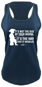 Not Size Of Worm Way Wiggles Funny Fishing Ladies Tank Top Fishing Gift Tank Z6