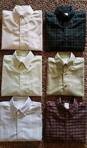 6 BROOKS BROTHERS Non Iron Cotton Sport Shirts SMALL Dress Oxford Classic Fit