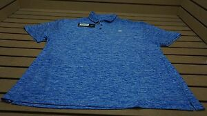 NEW Under Armour Golf Loose UPF 30 Polo Mens XXL Heather Blue WLogo 16A