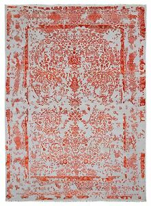 10X14 Orange and Blue Very Fine Modern Design Kashan Oriental Large Area Rug NEW