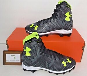 UNDER ARMOUR YOUTH BOYS SIZE 1Y CLUTCHFIT HIGHLIGHT FOOTBALL LACROSSE CLEATS