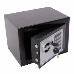 Small Black Steel Digital Electronic Safe Coded Box Home Office Hotel Gun E17EF $23.95