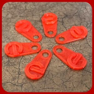 6 RED EC Quick Pull Tabs Dillon press index station location pins 650 1050 550