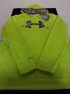 New Men's Under Armour UA Loose Pullover Storm Caliber Hunting Hoodie Size XLT
