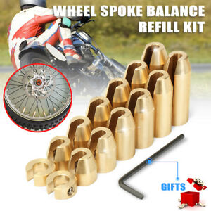 14 Pack Motorcycle Reusable Brass Wheel Spoke Balance Weights Refill Kit NEW