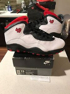 Nike Air Jordan X 10 45 PE Chicago MJ Personal pair RARE 130209 108