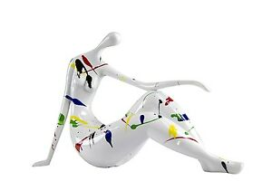 Oh Trendy Decorative Figurine of a Woman in Stretched Yoga Pose Modern Contem