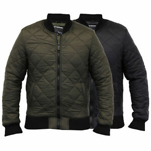 mens MA1 jacket Seven Series coat harrington padded quilted bomber lined winter