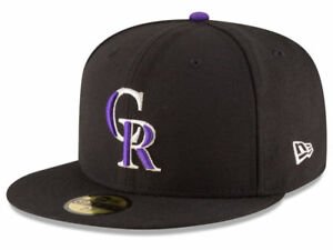 New Era Colorado Rockies GAME 59Fifty Fitted Hat (Black) MLB Cap