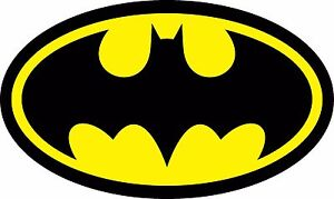 Diecut Vinyl BATMAN LOGO Decal Sticker Comic Dark Knight Colored