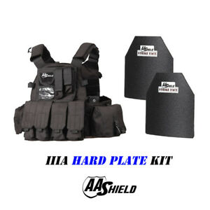 AA Shield Molle 6094 Style Military Tactical Vest IIIA Hard Plate 3A KitBlack