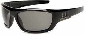 Under Armour Prevail Sunglasses Shiny Black FrameGray Lens One Size