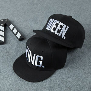 King And Queen Letter Hat Adjustable Baseball Cap Hats Hip Hop Couple Snapback