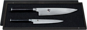 NEW SHUN CLASSIC 2-PIECE UTILITY AND CHEF'S KNIFE SET CUTLERY CUTTER TRIMMING
