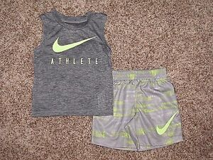 NIKE SET BOYS SHIRT SHORTS .18 24 MONTHS DRI-FIT
