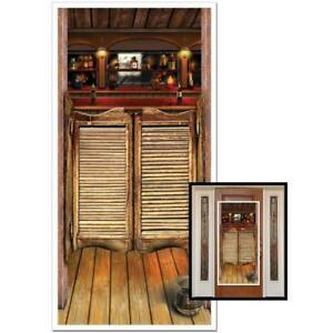 Western Saloon Door Cover All Weather Indoor Outdoor Use Party Scene Decoration