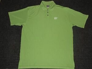Under Armour UA Rivera Golf Club Short Sleeve SS Polo Shirt Mens LG Large Green