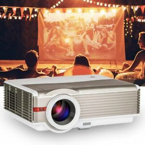 8000lumen HD 1080p LCD Home Theater Projector Movie Proyector HDMI*2 USB 10% Off