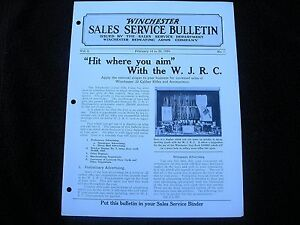 The Winchester Store Sales Service Bulletin 1924 Junior Rifle Corps 22 Shell Box