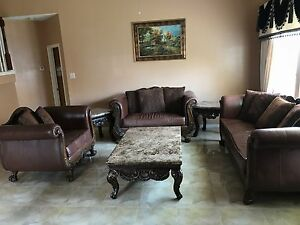 Living room furniture set including: 3 sofas 2 small tables 1 center table