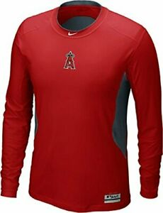 Nike Los Angeles Angels of Anaheim Hypercool DriFit AC Fitted Shirt Long Sleeve