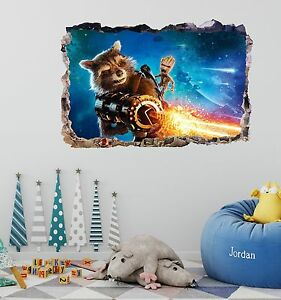 Guardians of the Galaxy 2 Smashed 3D Wall Decal Mural Art Home Decor Sticker