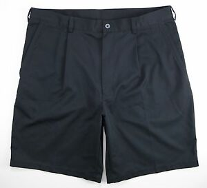 NEW Nike Golf Fit Dry Shorts Mens sz 36 black polyester pleated chino