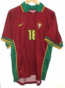 PORTUGAL 1997 AUTHENTIC FOOTBALL SHIRT BY NIKE XL #18 CADETE JERSEY
