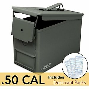 All-Metal Box for Ammunition and Storage 50 Cal Metal Ammo Can Water Tight NEW
