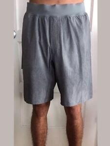 Lululemon Men's Size XL THE Short 9 LUX Gray TDSL With Liner Shorts Core NWT