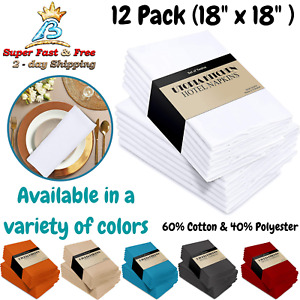 Luxury Dinner Cloth Napkin 12 Pack Set Dining Table Accessory 18