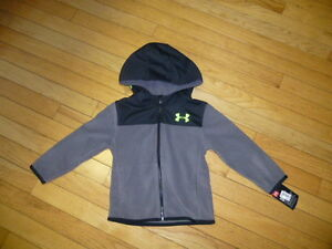 Under Armour Boy's TODDLER BOYS zippered hoodie  Size 2T  NWT