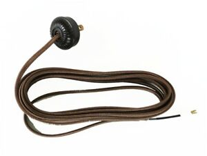 Replacement Lamp Cord Rayon Covered with Bakelite Round Plug 10 Foot Wire Parts