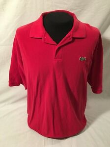 Lacoste Sport Mens XL Red Polo Shirt