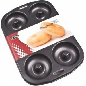 NEW D.LINE 6 CUP DOUGHNUT PAN RING SHAPED NON STICK COATING BAKING BAKEWARE