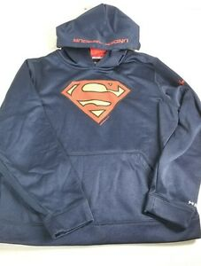 Under Armour ua STORM  Loose Pullover boys Hoodie sz  Ylg  dc Superman