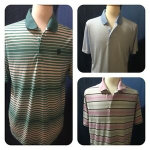 3 MEN'S NIKE GOLF DRI FIT DRY TOUR PERFORMANCE POLO STRIPED SHIRT SIZE LARGE