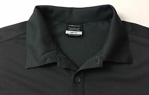 NIKE GOLF Dri-Fit Gray Polo Golf Shirt Custom Embroidered Logo MENS LARGE