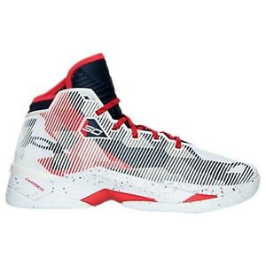Under Armour Men's Curry 2.5 Basketball Shoe WhiteMidnight NavyRed