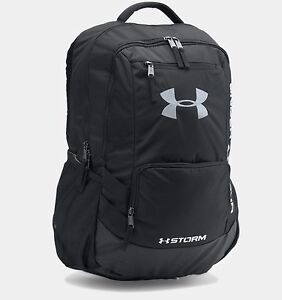 Under Armour 1263964 UA Storm Hustle II Backpack Black Adjustable HeatGear Bag