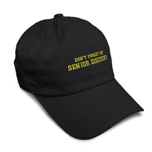 Don'T Forget My Senior Discount Embroidered Soft Low Profile Hat